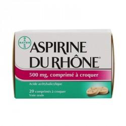 Aspirine du rhône 500mg 20 comprimés à croquer