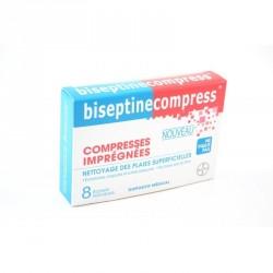 Biseptine compress 8 compresses imprégnées