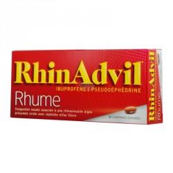 Rhinadvil Rhume Ibuprofene Pseudoephedrine 20 Comprimés Enrobés