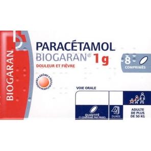 Paracetamol Biogaran 1g 8 Comprimés