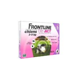 Mérial Frontline Tri-Act Chiens 2-5 kg 3 Pipettes
