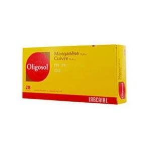 Oligosol Manganèse Cuivre 28 ampoules