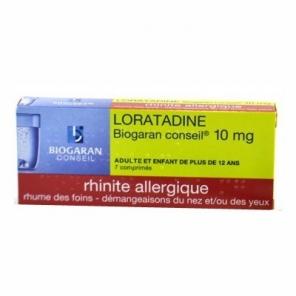 Loratadine Biogaran 10mg 7 comprimés