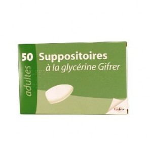Suppositoire à la glycérine Gifrer 50 suppositoires