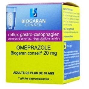 Omeprazole Biogaran 20mg 7gélules