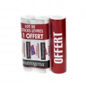 Neutrogena Stick Lèvres 3x4,8g dont 1 Offert