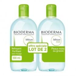 Bioderma sebium solution micellaire H2O 2 x 500ml