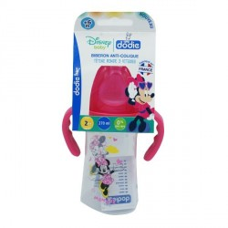 Dodie biberon initiation+ minnie avec anses 270ml