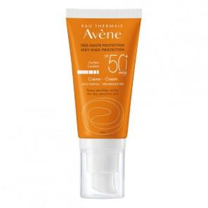 Avène Crème SPF 50+ sans parfum protection solaire tube pompe 50ml