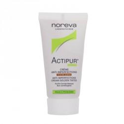 Noreva actipur crème anti-imperfections teintée dorée 30ml